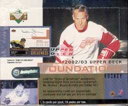 2002/03 Upper Deck Foundations Hockey Hobby Box