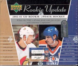 2002/03 Upper Deck Rookie Update Hockey Hobby Box