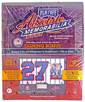 2002 Playoff Absolute Memorabilia Baseball Hobby Box