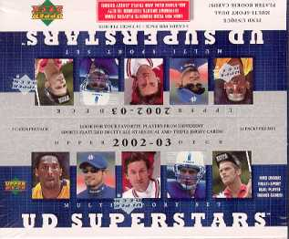 2002/03 Upper Deck Superstars Multi-Sport Box w/o Box Topper