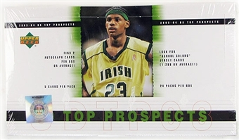 2003/04 Upper Deck Top Prospects Basketball Hobby Box