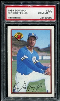 1989 Bowman Baseball #220 Ken Griffey Jr. Rookie PSA 10 (GEM MT) *0293