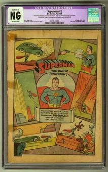 Superman #2 CGC NG (OW) Restored Coverless/Incomplete *0314174005*