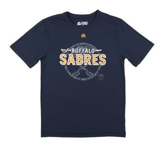Buffalo Sabres Majestic Navy Home Ice Performance Tee Shirt (Adult Small)