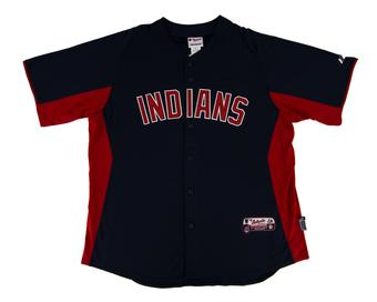 Cleveland Indians Majestic Navy Crosstown Rivalry Jersey (Adult L)