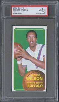 1970/71 Topps Basketball #11 George Wilson PSA 9 (MINT) (OC) *3904