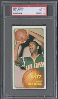 1970/71 Topps Basketball #44 Stu Lantz PSA 7 (NM) *3910