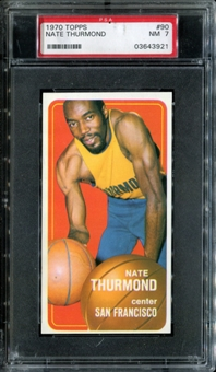 1970/71 Topps Basketball #90 Nate Thurmond PSA 7 (NM) *3921