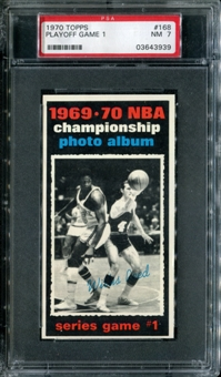 1970/71 Topps Basketball #168 Playoff Game 1 - Willis Reed PSA 7 (NM) *3939
