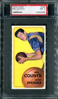 1970/71 Topps Basketball #103 Mel Counts PSA 7 (NM) *3959