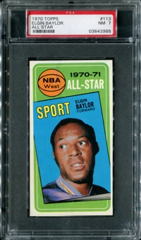 1970/71 Topps Basketball #113 Elgin Baylor All Star PSA 7 (NM) *3988