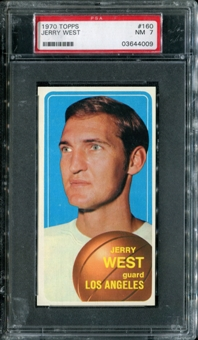 1970/71 Topps Basketball #160 Jerry West PSA 7 (NM) *4009