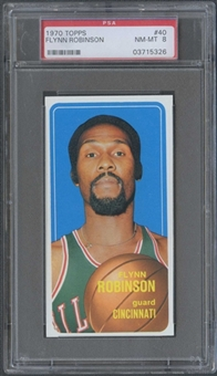 1970/71 Topps Basketball #40 Flynn Robinson PSA 8 (NM-MT) *5326