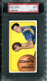 1970/71 Topps Basketball #103 Mel Counts PSA 7 (NM) *5368