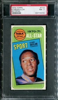1970/71 Topps Basketball #113 Elgin Baylor All Star PSA 7 (NM) *5372