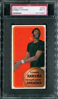 1970/71 Topps Basketball #130 Connie Hawkins PSA 7 (NM) *5387