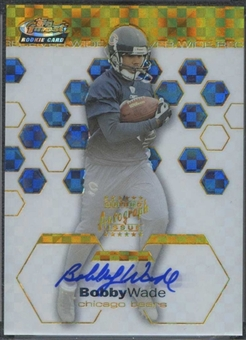 2003 Topps Finest Gold Refractors #142 Bobby Wade 24/50 Rookie Autograph