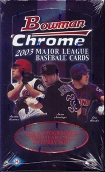 2003 Bowman Chrome Baseball Hobby Box