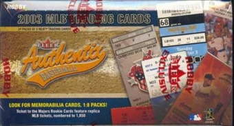 2003 Fleer Authentix Baseball Hobby Box