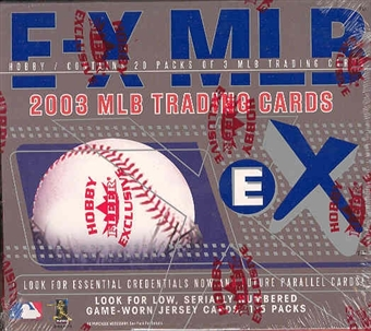 2003 Fleer Skybox E-X Baseball Hobby Box