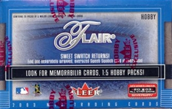 2003 Fleer Flair Baseball Hobby Box