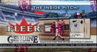 2003 Fleer Genuine Baseball Hobby Box