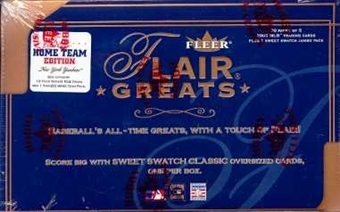 2003 Fleer Flair Greats New York Yankees Baseball Hobby Box