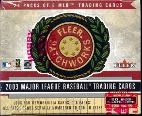 2003 Fleer Patchworks Baseball Hobby Box