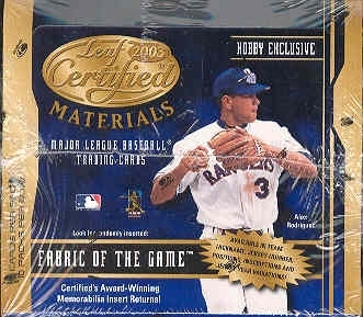 2003 Leaf Certified Materials Baseball Hobby Box