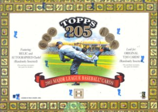2003 Topps T-205 Series 1 Baseball Hobby Box