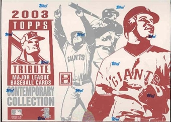 2003 Topps Tribute Contemporary Collection Baseball Hobby Box