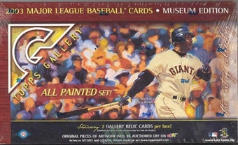 2003 Topps Gallery Museum Edition Baseball Hobby Box