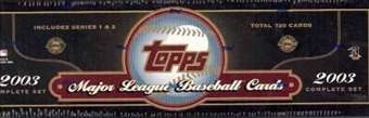 2003 Topps Baseball HTA Factory Set (Box) (Green)