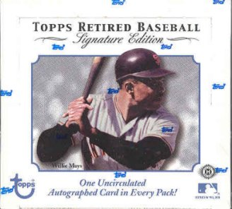 2003 Topps Retired Signature Edition Baseball Hobby Box