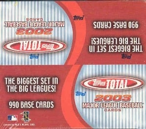 2003 Topps Total Baseball 36 Pack Box