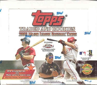 2003 Topps Traded & Rookies Baseball Jumbo Box