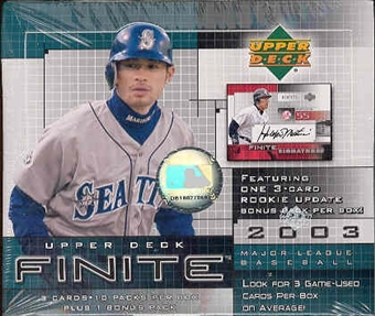 2003 Upper Deck Finite Baseball Hobby Box