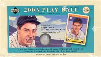 2003 Upper Deck Play Ball Baseball Hobby Box