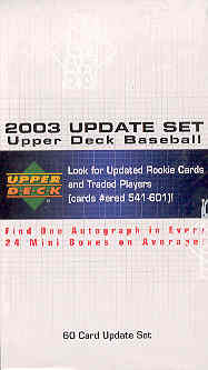 2003 Upper Deck Update Baseball Factory Set (#541-601) - 2004 UD 1 Exclusive