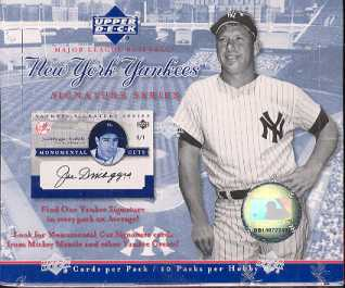 2003 Upper Deck Yankee Signature Series Baseball Hobby Box