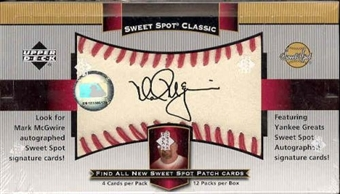 2003 Upper Deck Sweet Spot Classic Baseball Hobby Box