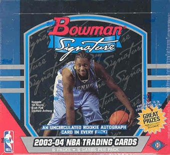 2003/04 Bowman Signature Basketball Hobby Box