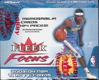 2003/04 Fleer Focus Basketball Hobby Box