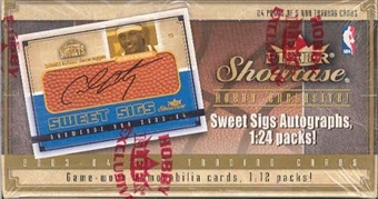 2003/04 Fleer Showcase Basketball Hobby Box