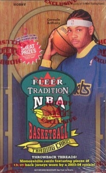 2003/04 Fleer Tradition Basketball Hobby Box