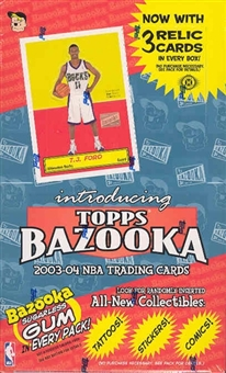 2003/04 Topps Bazooka Basketball Hobby Box