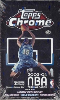 2003/04 Topps Chrome Basketball Hobby Box