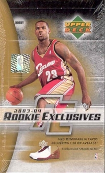 2003/04 Upper Deck Rookie Exclusives Basketball Hobby Box