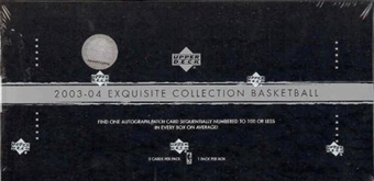 2003/04 Upper Deck Exquisite Basketball Hobby Box