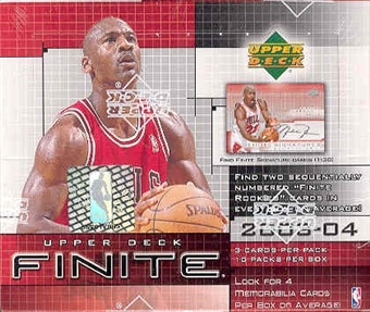 2003/04 Upper Deck Finite Basketball Hobby Box